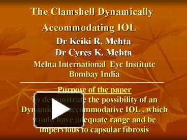 Accommodating iol ppt template